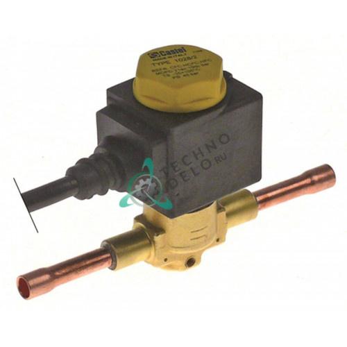 Клапан электромагнитный Castel прямой 240V 1/4 паечное соединение PELV457 34500029100457 для Amatis, Inomak и др.