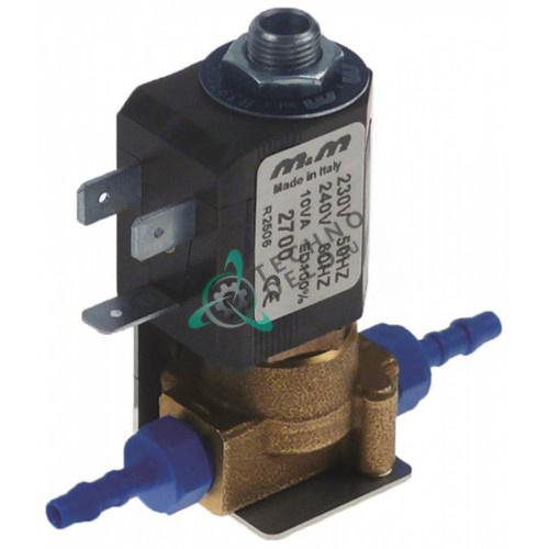 Клапан электромагнитный M&M 2700 230В NC d4мм для кофемашины Bravilor Bonamat BFT321 и др.
