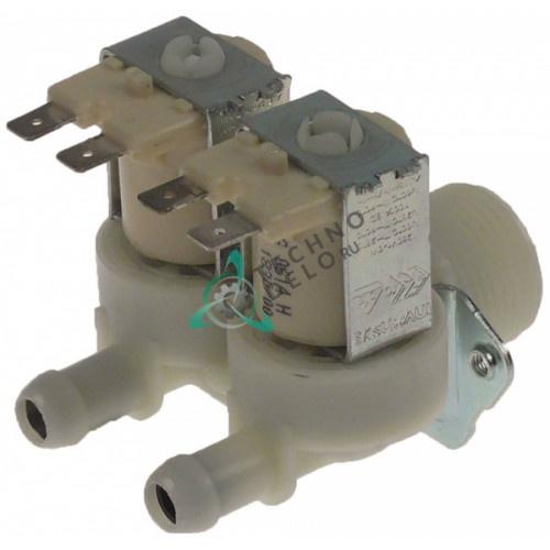 Клапан электромагнитный Eaton (Invensys) двойной 230VAC 3/4 d-11.5мм 9 л/мин 120625 кофемашины Coffee Queen
