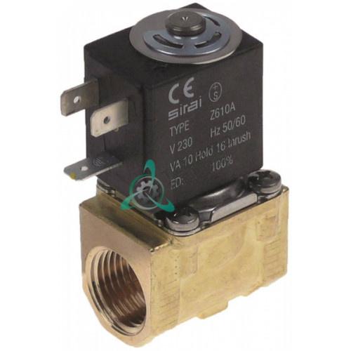 Клапан электромагнитный Sirai L140-D 1/2 L41мм Z610A 230VAC 37906 для Hoonved