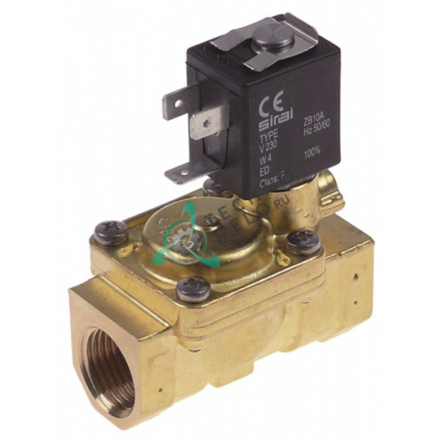 Клапан электромагнитный Sirai L180-V 1/2 L66мм ZB10A 230VAC 120135 для Comenda