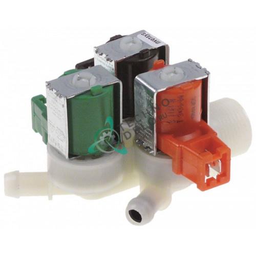 Клапан электромагнитный тройной Invensys 230VAC 3/4 d11.5мм 5001050 для печи Rational SCC101/SCC201 и др.