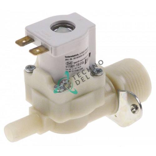Клапан электромагнитный одинарный Interelektrik 230VAC 3/4 d10.5мм 883658-1 для Hobart Ecomax