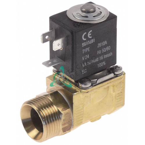 Клапан электромагнитный Sirai L140-D 24VAC 3/4AG 1/2IG L61мм Z610A 120192 для Comenda и др.