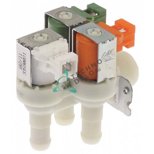 Клапан электромагнитный Elbi тройной угловой 230VAC 3/4 d-15мм 0,5-2л/мин 0L0260 0L3444 для Electrolux EUC1DPWS