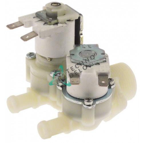 Клапан электромагнитный двойной RPE 230VAC 3/4 d11.5мм DW15214 для Dihr, Kromo, Rhima и др.