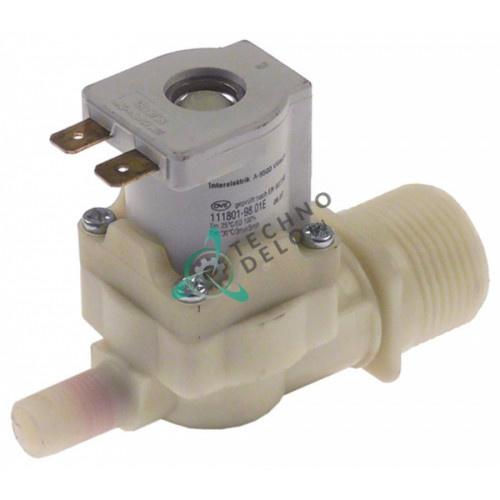 Клапан электромагнитный одинарный Interelektrik 230VAC 3/4 d10.5мм 201140 для печи MKN CGE/CSE