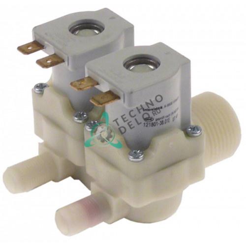 Клапан электромагнитный Interelektrik 230VAC 3/4 d10.5мм 3 л/мин 201142 для печи MKN CGE11-L и др.