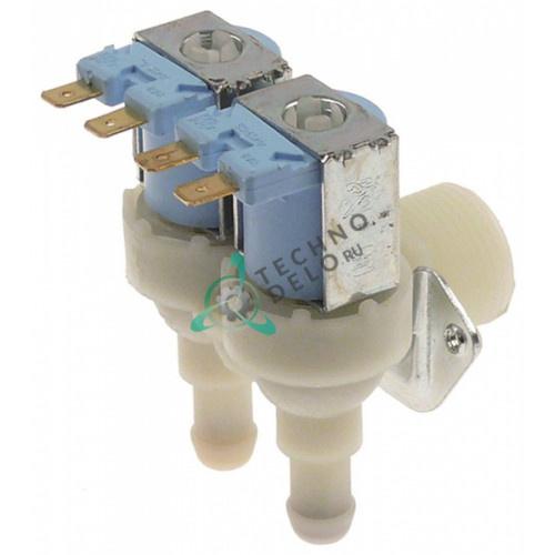 Клапан электромагнитный TP 230VAC вход 3/4 выход d11,5 мм двойной C23501 для Brema, Brice Italia и др.