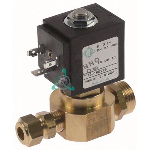 Клапан электромагнитный ODE 230В 1/4 L35мм 6532053 для печи Ambassade CFE705RT/CFE714RT
