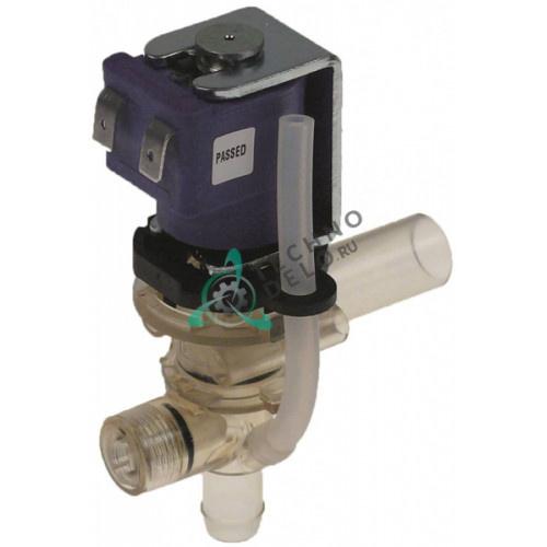 Клапан электромагнитный одинарный угловой 240VAC d11.5мм/d15мм 160230 для Coffee Queen