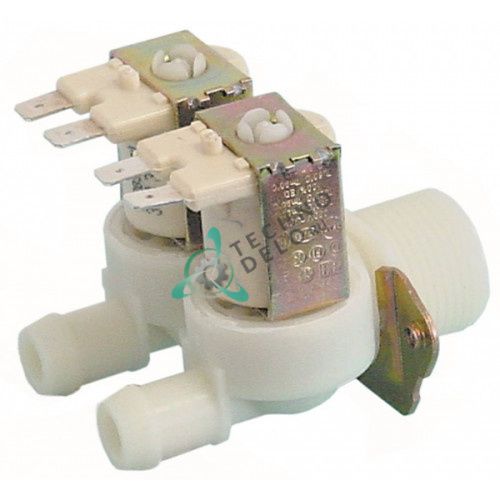 Клапан электромагнитный двойной Eaton 230VAC 3/4 d14мм VA-34045 для печи Alto Shaam и др.