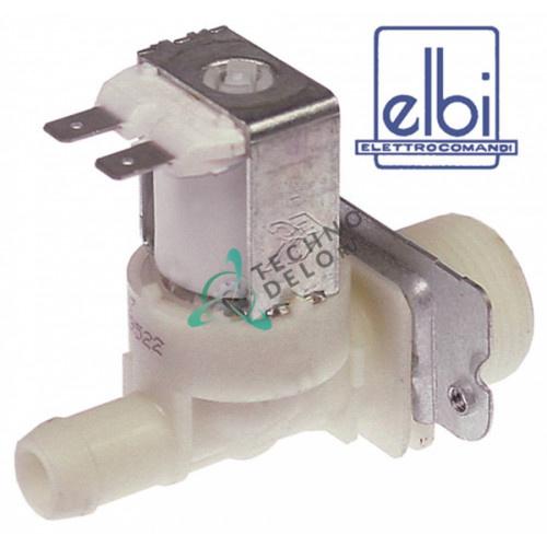 Клапан электромагнитный Elbi одинарный 230VAC 3/4 d-14мм 481981729012 для Bobeck, Fagor, Meiko Electrolux 6LC00B/LC5E