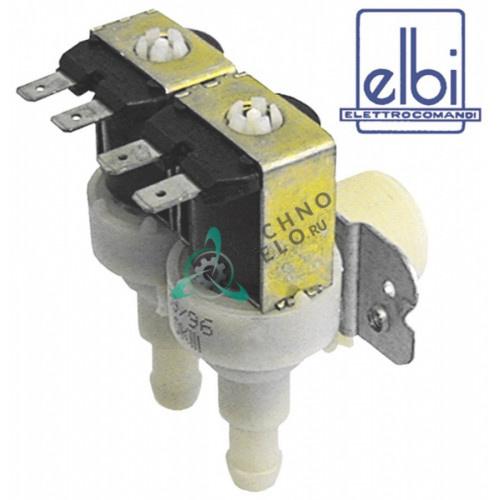 Клапан электромагнитный двойной Elbi 230VAC 3/4 d11.5мм 069295 для Whirlpool, Polimatic, Hoover и др.