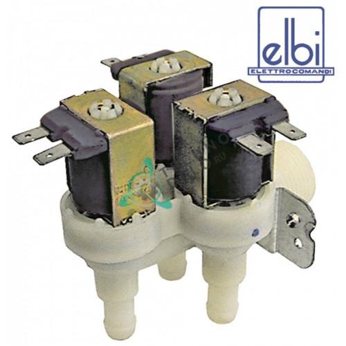 Клапан электромагнитный тройной Elbi 230VAC 3/4 d11.5мм 120179 для Comenda, Dihr, Zanussi и др.