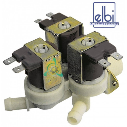 Клапан электромагнитный тройной Elbi 230VAC вход 3/4 выход d11.5мм DW15099 0E0330 универсальный