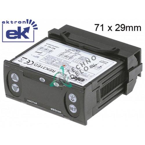 Контроллер Ektron REK31ED-0021 71x29мм 230VAC датчик NTC/PTC -50 до +95°C SL0531 SL1246 для Amatis, Fimar, Forcar, Tefcold