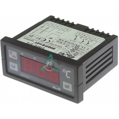 Контроллер Eliwell EWPC974 71x29/33x75мм 12VAC/VDC датчик NTC/PTC 3 реле -50 до +150°C 995702 FR995702 для Friulinox