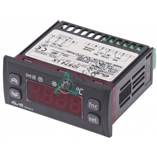 Контроллер Eliwell EWPC974 71x29/33x75мм 230VDC датчик PTC 1 реле защита IP65 диапазон -55 до +140°C