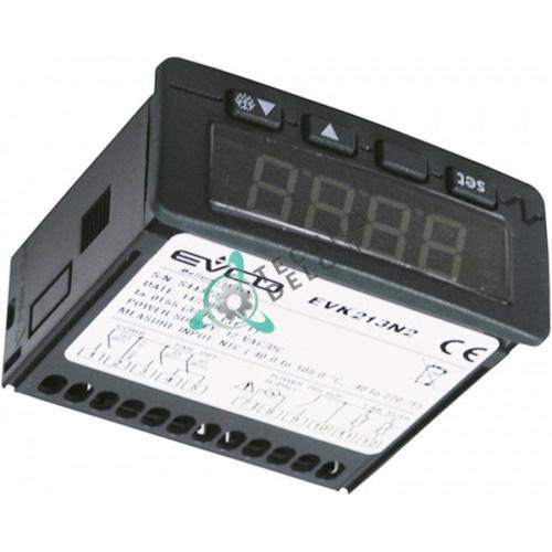 Контроллер EVCO EVK213N2 71x29мм 12/24 VAC/VDC датчик NTC/PTC 3 реле диапазон -50 до +150°C