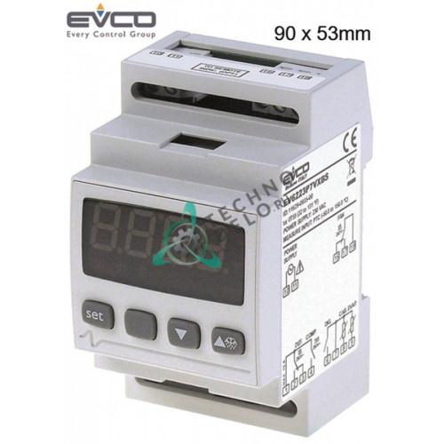 Контроллер EVCO EV6223P7VXBS 90x53мм 230VAC датчик NTC/PTC 3 реле IP54 диапазон -50 до +150