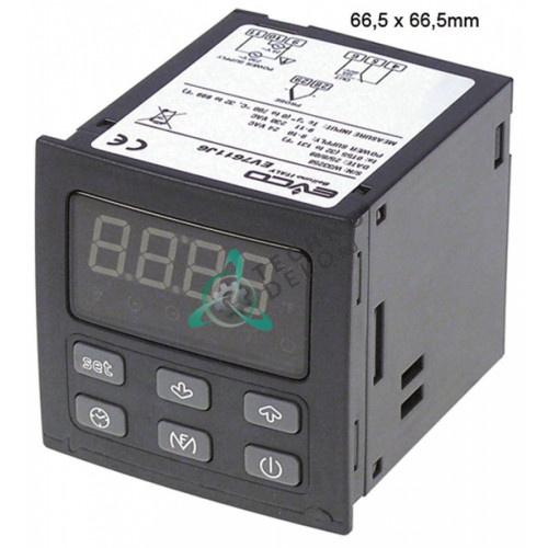 Контроллер EVCO EV7611 66,5x66,5мм 24/230VAC датчик TC(J) 1 реле IP54 диапазон 0 до +700°C