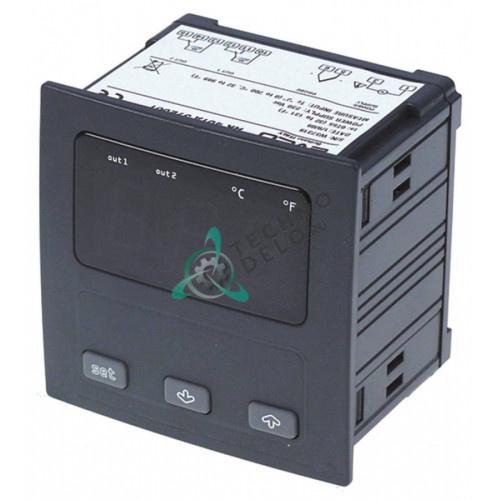 Контроллер EVCO EV9412J6 92x92x78мм 24/230 VAC датчик TC (J,K) 2 реле IP54 диапазон измерений -99 до +800 °C