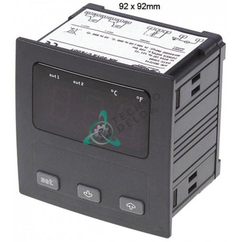 Контроллер EVCO EV9412C6 92x92мм 24/230VAC датчик Pt100 2 реле IP54 диапазон -99 до +650°C