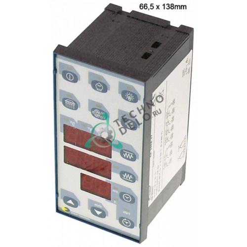 Контроллер EVCO EK356AJ7 66,5x138мм 230VAC датчик TC (J,K) 6 реле IP54
