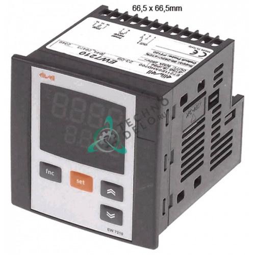 Контроллер Eliwell EW7210 E7211E0XHD700 66,5x66,5мм 95-240VAC датчик Pt100 диапазон измерений -200 до +800°C