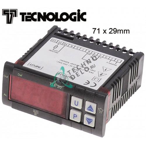 Электронный регулятор TECNOLOGIC TLE20DSK 230VAC тип датчика NTC/PTC