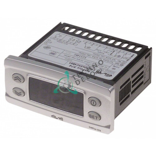 Kонтроллер Eliwell EWPlus 974 71x29/74x32мм 230VAC -50 до +110°C датчик NTC/PTC/Pt1000 2 реле EISB7 для Desmon