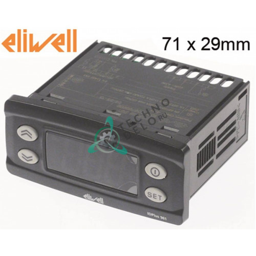 Контроллер Eliwell IDPlus 961 IDP17D0700000 71x29/74x32мм 230VAC FX95040273 0S0786 0S1453 для Electrolux, Friginox и др.
