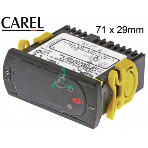 Контроллер CAREL PYAO1C0522 71x29x59мм 230VAC датчик NTC -50 до +90°C 74700881 для оборудования Afinox и др.