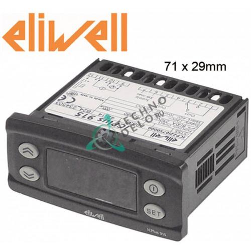 Контроллер Eliwell ICPlus915 ICP22I0750000 71x29мм 230VAC датчик 0-20 мА/4-20 мА -199 до +199 °C