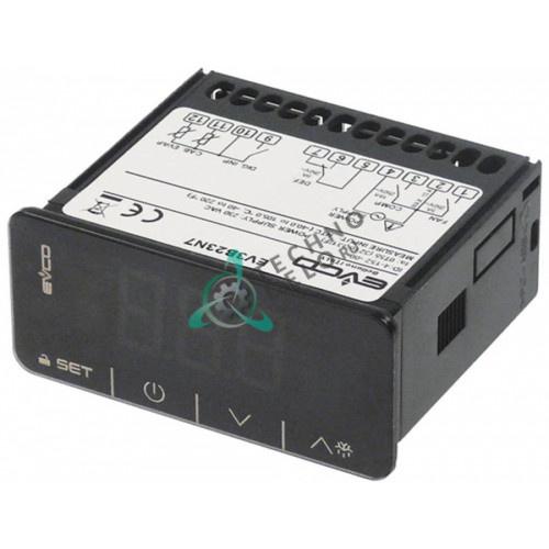 Контроллер EVCO EV3B33N7 Touch 71x29мм 230VAC датчик NTC/PTC -40 до +105°C A00DJ100 для Frenox