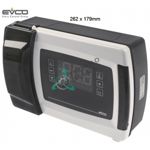 Контроллер EVCO EVB1216N9XLC RS485 262x179мм 230VAC датчик NTC/PTC/Pt1000 6 реле для холодильной камеры