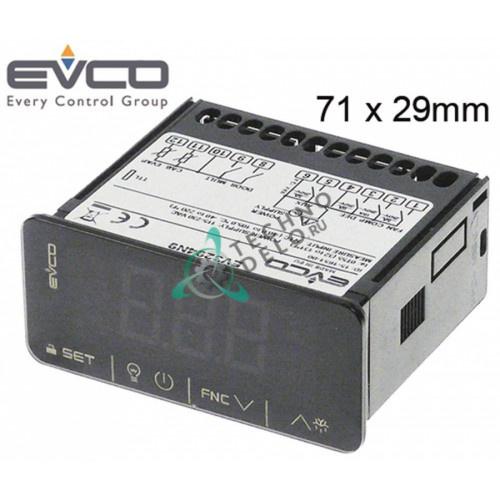 Контроллер EVCO EV3294N9 71x29мм 115-230VAC датчик NTC/PTC 4 реле для холодильного оборудования