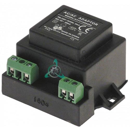Трансформатор 230VAC / 12VAC 3VA 0.25A для  Angelo-Po, Bertos, Palux, Pizza-Group, Unox и др.