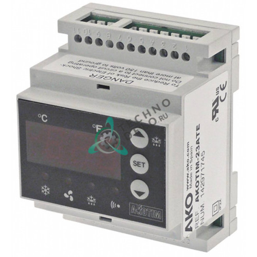 Контроллер AKO AKOTIM-23ATE -50 до +99 °C 90x70x58мм 230VAC датчик NTC