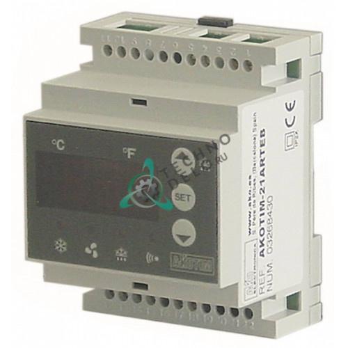 Контроллер AKO AKOTIM-21ARTEB -50 до +99°C 90x70x58мм 230VAC датчик NTC