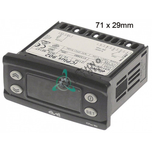 Контроллер Eliwell ICPlus902 71x29мм 230VAC датчик NTC/PTC 1 реле 8A  0S0295 2959300 MA2959300 для Mareno и др.