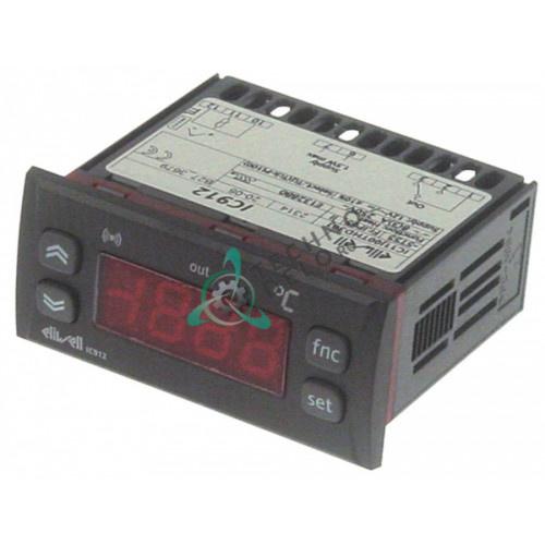 Контроллер Eliwell IC912 71x29мм 12V тип датчика Pt1020200/TC-J 004109 ME0000309 для пицца-печи Cuppone, Electrolux и др.