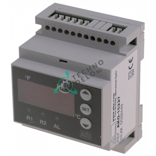 Контроллер AKO-15227 90x70x58мм 24В датчик NTC/PTC/Pt100/TC для холодильной камеры