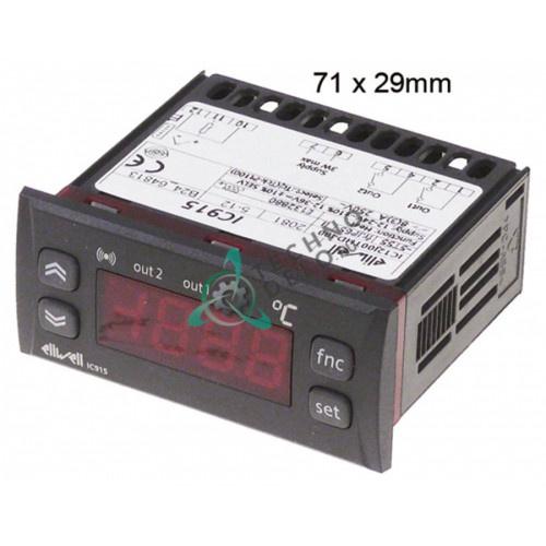 Контроллер Eliwell IC915 IC12J00THD400 71x29мм 12/24 VAC/VDC датчик Pt100/TC (J,K) 2 реле -150 до +1350°C