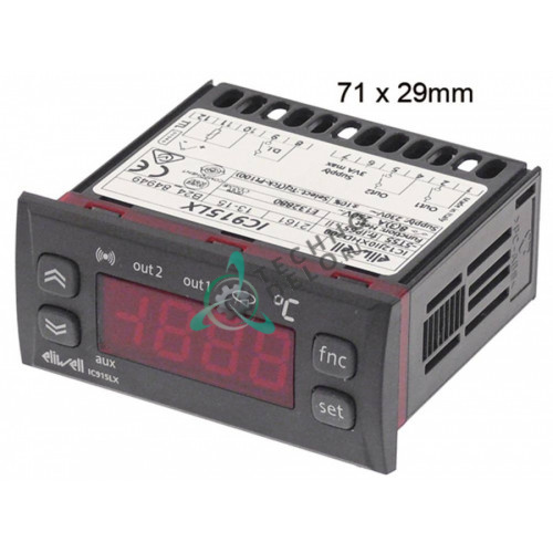 Контроллер Eliwell ICPlus915 ICP22DI750000 71x29мм 230VAC датчик NTC/PTC 2 реле 0S1643 для Electrolux