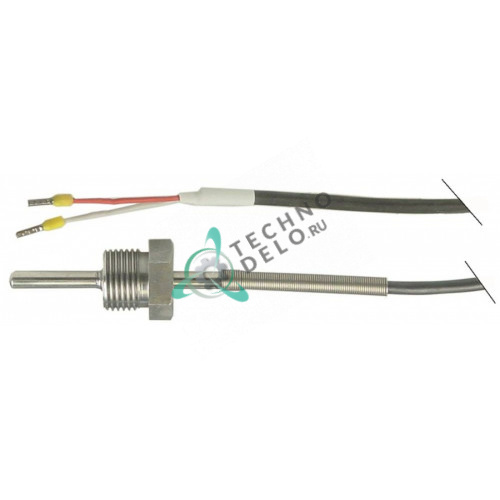 Датчик температурный Pt100 ø6x30мм кабель силикон L-2,1м 5024109876 для Ambach EKK-100E, EKK-40E и др.