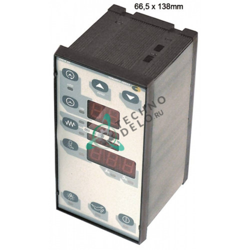 Контроллер EVCO EK342AJ7 66,5x138x77мм 230VAC датчик TC (J,K) 3 реле для пицца-печи Pizza Group и др.