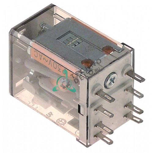 Реле Finder 55.32.9.024.0000 (24VDC 10A 2CO) штепсельный разъём F2 тип цоколя 94.92.3
