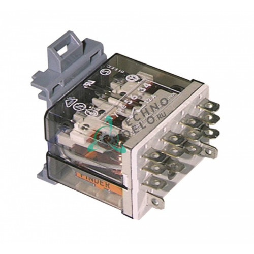Реле Finder 56.34.8.230.0007 230VAC 12A 4CO 048611 / 148611 для холодильной витрины Electrolux, Zanussi